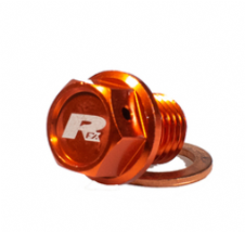 RFX Magentic Drain Bolt Orange M12 x 12mm x 1.50 KTM SX/SXF/EXC/EXCF All Hva TC/TE/TX/FC/FE/FX All